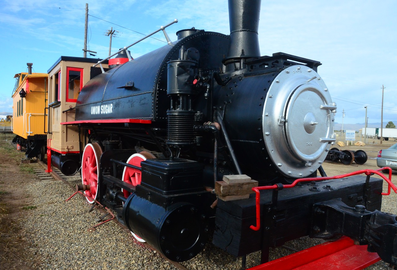 The Santa Maria Valley Railway Historical Museum's display pieces now at the Regional Transit Center in Santa Maria (Miller and Jones).