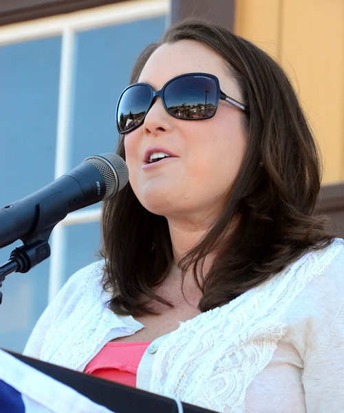 Lindsey Miller from the SLO Chamber opened the Train Town USA ceremony.