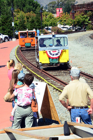 Take a ride on a railway motorcar at the SLO Freight House.