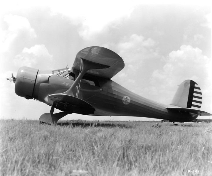 US Navy Beechcraft GB-2 (Model 17 Staggerwing).  Lt. William A. Prescott flew the GB-2 which was a personal transport for high ranking Navy personnel during WWII.