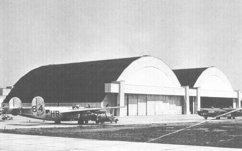 NAS Hurchinson, Kansas - 1945.  Photo of US Navy Consolidated PB4Y-1 (Navy's version of the B-24 Bomber).  Lt. William A. Prescott was in training to fly the PB4Y-1 and PB4Y-2.