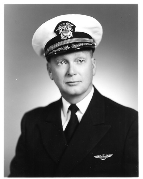 Photo of CDR William A. Prescott.  He retired from the US Navy in 1967 after 26 years of service in the USNR.