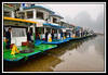 Boats awaiting passengers for river tour...