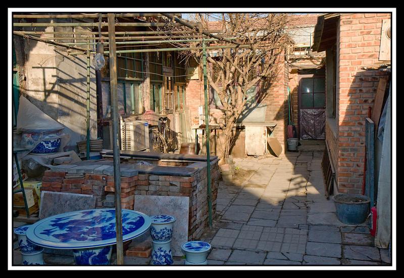 Courtyard of hutong house...