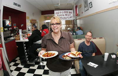 17OCT12 / Chuck Humel     Donna Dove of Donna's Diner is enjoying the notoriety of her establishment as it was in a lengthy article in the New York Times.