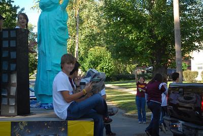 09-24-2010 - Mitch (Class President) CHS Freshman Homecoming Float - Class of 2014