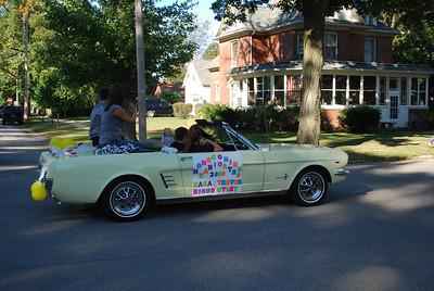 09-24-2010 - CHS Homecoming Parade - 1965 Mellow Yellow Mustang 289 convertible - a sweet memory.