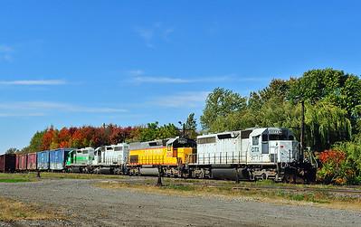 Central Maine & Quebec Ry Train #1, Farnham Qc  October 12 2015.