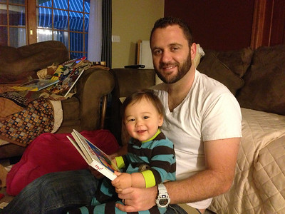 Early morning (6:30am) reading with daddy!