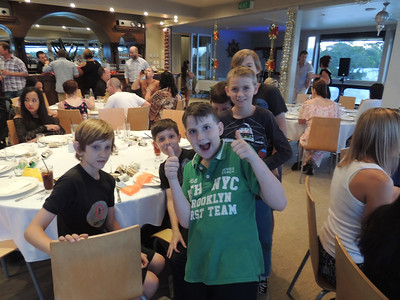 The boys!! Jez, Michael, Eden, Jayden & Tom at the Combat Karate Christmas Party 2013
