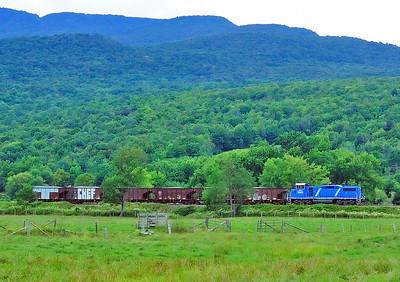 Central Maine & Quebec, Work Train, Glen Sutton Qc August 22 2014