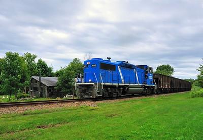 Central Maine & Quebec,Work Train. Sutton Jct August 22 2014