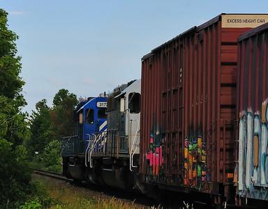 Central Maine & Quebec  CITX 3071 CEFX 3172, Iberville, Qc  July 9 2014