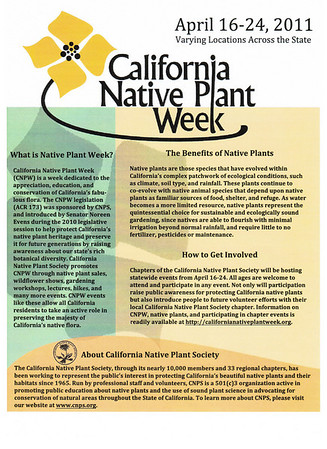 CNPS Native Plant Week