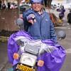 A motorbike driver in Huazhou