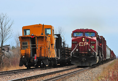 Canadian Pacific, Work Train(CWR) & D&H #253, Lacolle, Qc.
