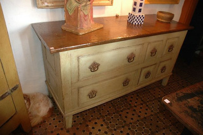 Dresser, chest of drawers with 6 drawers 2 large 4 small, wood top.  160 x 32 x 77cm UK01E07