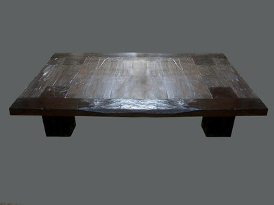 reclaimed contemporary coffee table. Made of Brauna wood almost black in colour.  UK01ZM