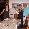 Adrienne, John, Joan, Mario at Da Venanzio, Colonnata, 2009.