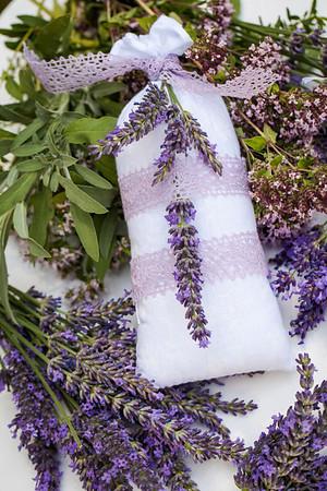 lavender textile bag