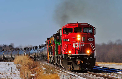 Montreal Maine & Atlantic , oil train #606, Brookport, Qc