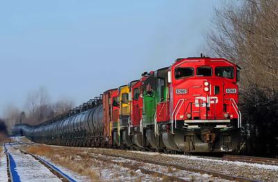 Montreal Maine & Atlantic , oil train #606, Farnham, Qc