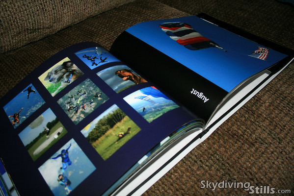 The book measures 8 x 10 inches and is organized by month, from December 2006 through November 2007.