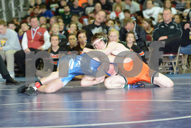 2014 Iowa High School State Finals Class 3A<br /> 3A-152<br /> 1st Place Match - Travis Willers (Pleasant Valley) 51-2 won by decision over Trey Blaha (Prairie, Cedar Rapids) 39-11 (Dec 3-0)