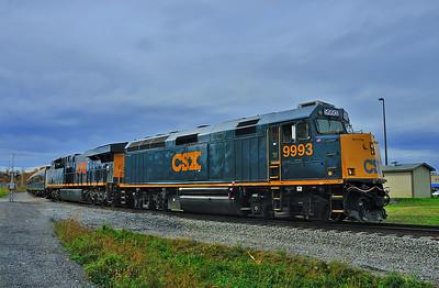 CSX OCS Train, Valleyfield  Intermodal  Terminal, Qc OCT 15 2014.