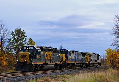 CSXT Roadswitcher, Valleyfield Qc October 15 2014