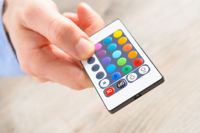Remote control for led lighting, concept of chromotherapy