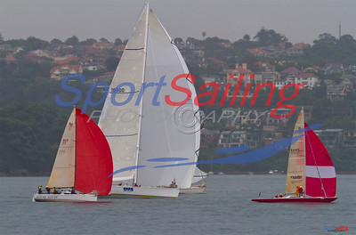 Shere khan and Brindabella heading towards the 2nd mark wth Scarlett O'Hara.  CYCA Winter Series 2012