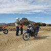 Stopping for a rest and some photos.  The mountain in the backround is Cabezon Peak.  I think it is about 8000ft high.  It is an extinct volcano.  Cabezon means head in spanish.
