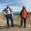 Rich and George overlooking the Badlands just west of Rio Rancho.  The mountains in the backround are the Jemez Mountains.