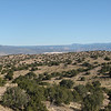 Looking north towards the Jemez Mountains.  You can see the Gypsum Mines in the middle of the photo.  (white)
