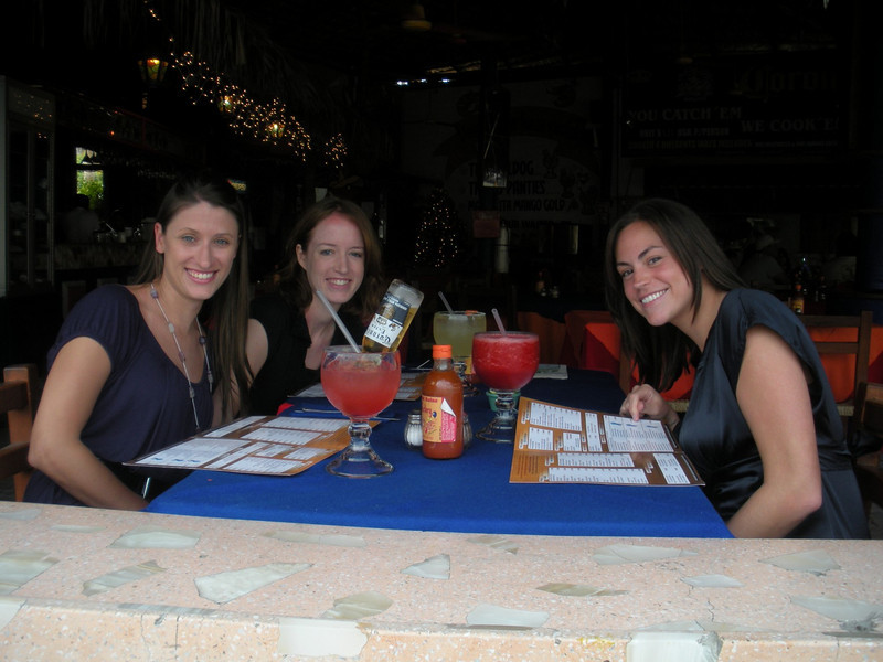 Dinner in downtown Cabo.  Just the beginning of a good night.