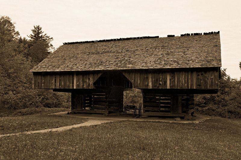 Cantilevered Barn - Cades Cove