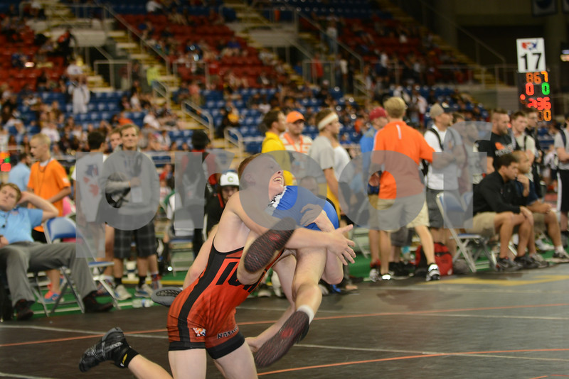 2014 USAW Cadet Freestyle Nationals<br /> 138 - Cons. Round 9 - Colton Clingenpeel (Iowa) over Collin Kraus (Wisconsin) (TF 18-8)