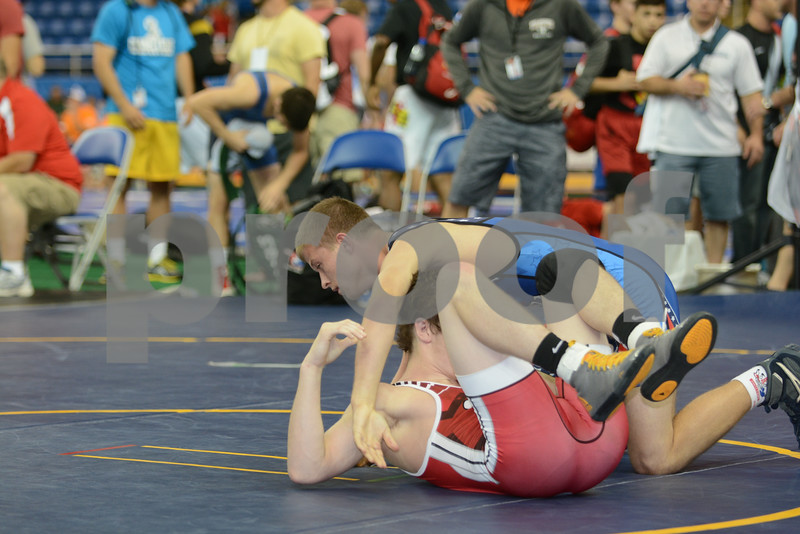 2014 USAW Cadet Freestyle Nationals<br /> 113 - Cons. Round 10 - Bryce West (Iowa) over Josh Copeland (Oklahoma) (Fall 1:59)