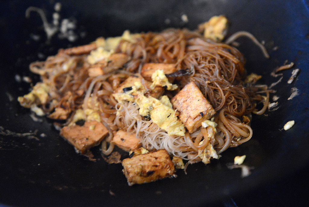 . Tania Barricklo-Daily Freeman  Tofu Pad thai, with the alternative choice of chicken or shrimp.