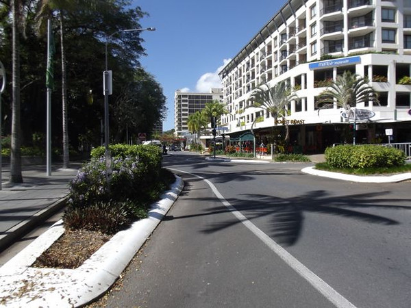 The Esplanade - typical 'tropical' main street.