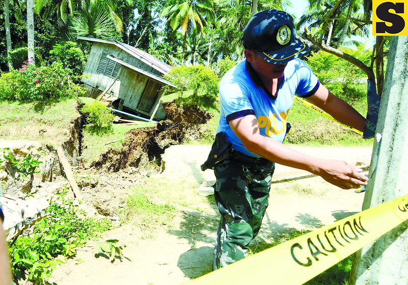 Sinkholes in Catigbian, Bohol after quake
