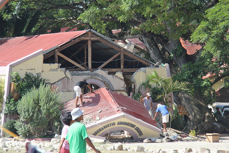 BOHOL. The extent of the physical damages caused by the magnitude 7.2 earthquake in Maribojoc and Loon, two of the isolated towns in the province of Bohol. Many houses and churches collapsed and some roads and bridges were damaged. (Mildred Galarpe)