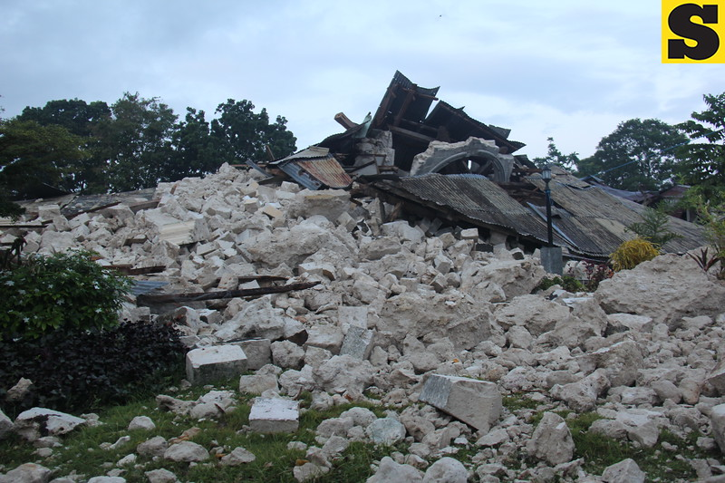 BOHOL. Rubble  of Our Lady of Light church in Loon, Bohol. (Mildred Galarpe)
