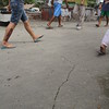 Cracks in some roads of Pooc, Talisay Cebu were immediately noticed after Tuesday's earthquake. (Januar Yap/Sun.Star)