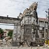 The century old belfry of Basilica del Santo Nino in Cebu City was damaged during Tuesday's earthquake. (Jojo Abcede/Sun.Star)