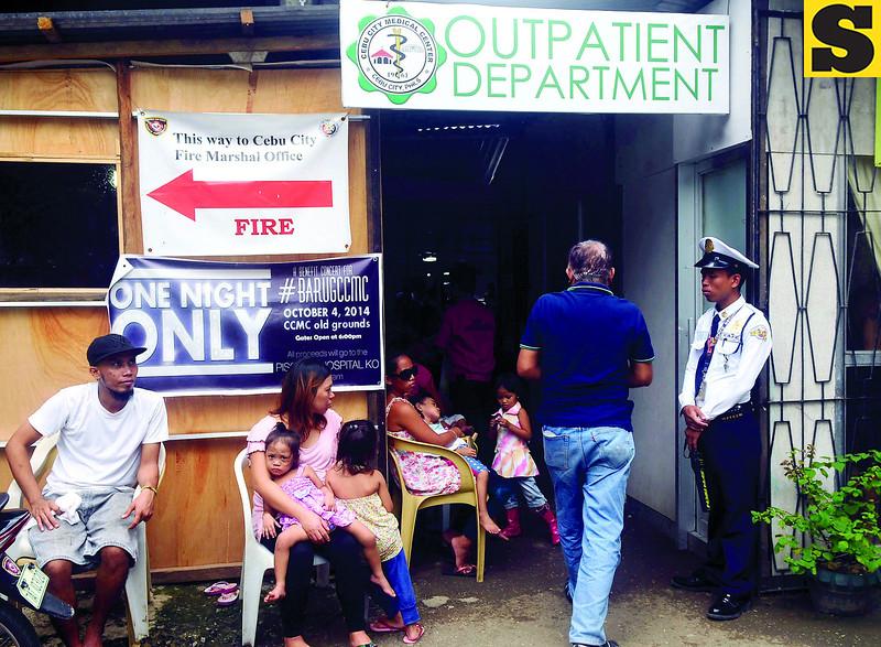 CCMC outpatient department after Cebu quake