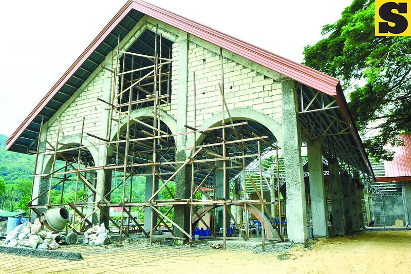 Temporary church in Loboc Bohol
