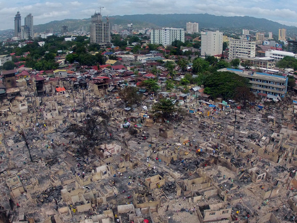 Barangay Lorega fire aftermath