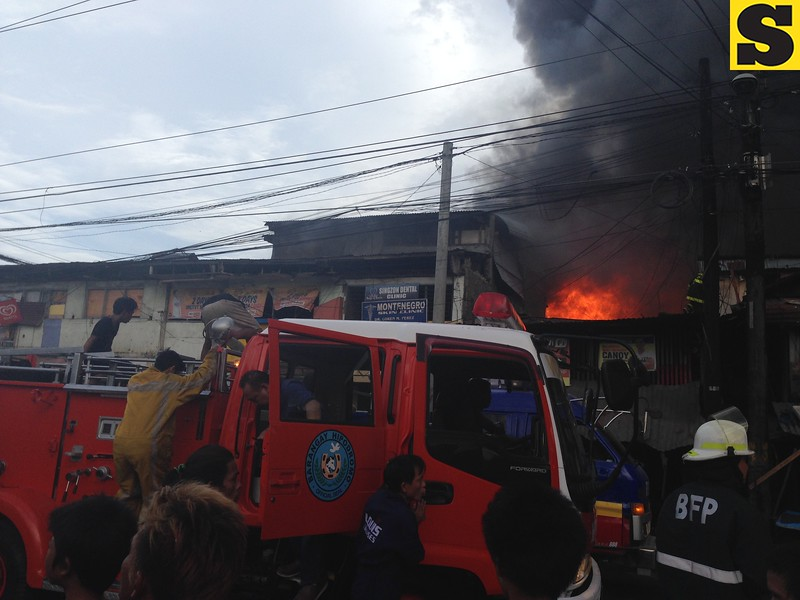 A fire broke out Tuesday afternoon in Sitio Laray, Barangay Carreta, Cebu City. The Cebu City Fire Department received the alarm at 3:26 p.m. (Armie Garde/Sunnex)